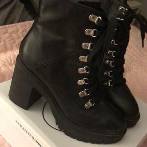 Steve Madden black leather boots
